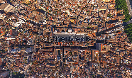 aerial view of rome italy