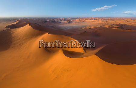 aerial view of sahara desert algeria