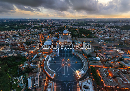 aerial view of vatican city state
