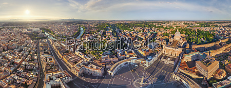 panoramic aerial view of vatican city