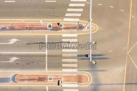 aerial view of burj khalifa blvd