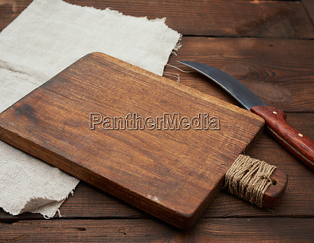 very old empty wooden rectangular cutting