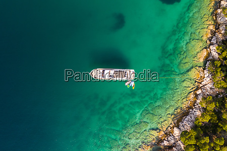 aerial view of limenaria greece