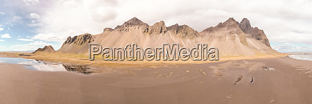 panoramic aerial view of oriental iceland