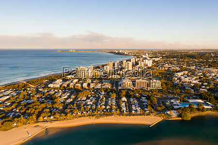 aerial view of sunshine coast queensland