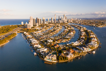 aerial view of gold coast queensland