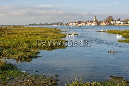 bosham at high tide sussex england