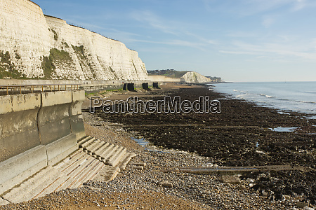 seafront and beach at rottingdean england