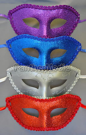 colorful glittery masks