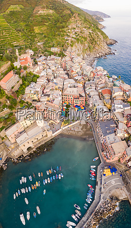 aerial view of vernazza province of