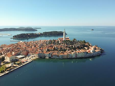 aerial view of rovinj croatia