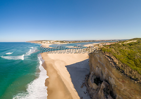 aerial view of praia da foz