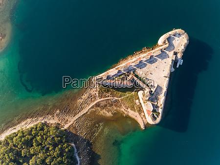 aerial view of Sibenik croatia