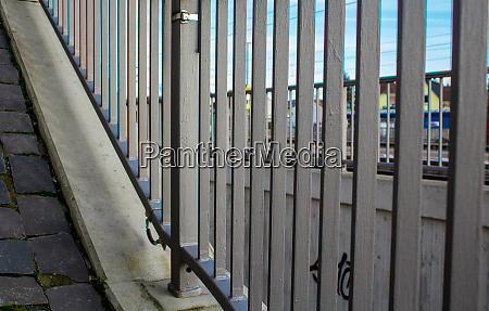 metal railings on the underpass