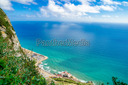 panorama of exotic coast with hotel
