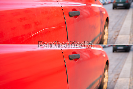 car scratch repair before and after