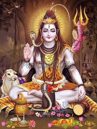 hinduism lord shiva spiritual illustration holy