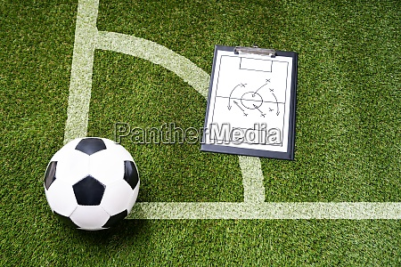 ball whistle and soccer tactic diagram
