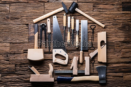 carpenter tools in house shape