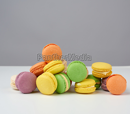round baked multi colored almond flour