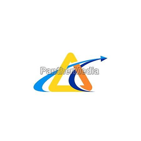 triangle arrow finance illustration logo symbol