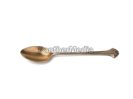 silver vintage small coffee spoon for