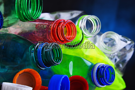 empty colored carbonated drink bottles plastic