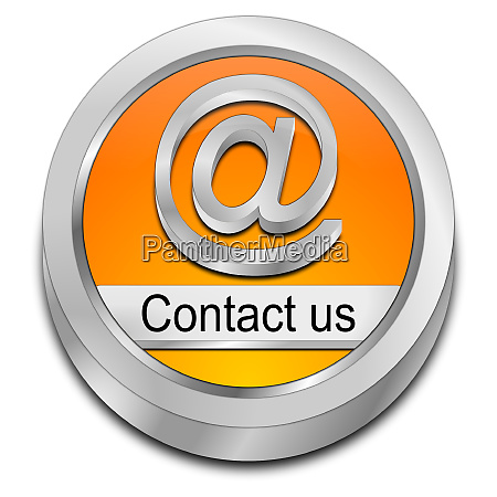 orange button contact us 3d