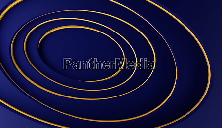abstract modern blue background with golden