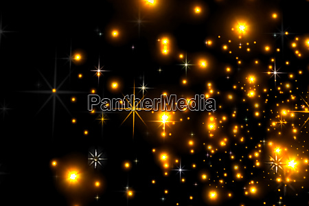 animated stars on a black background
