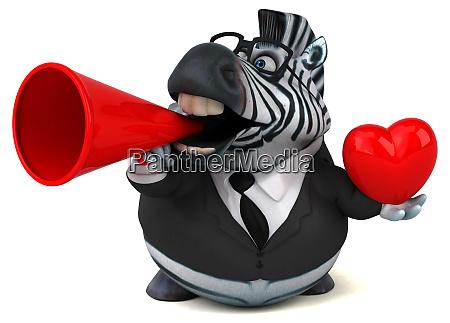 fun zebra 3d illustration