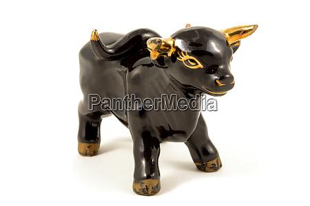 porcelain black bull