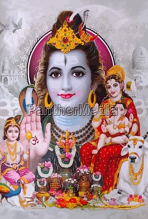 god shiva snake and lady saraswati
