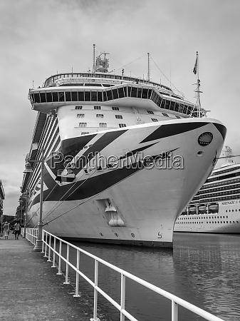 cruise ship mv britannia at the