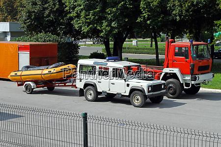 rescue vehicles