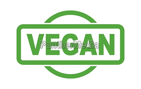 vegan green rubber stamp