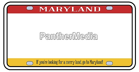 blank maryland license plate