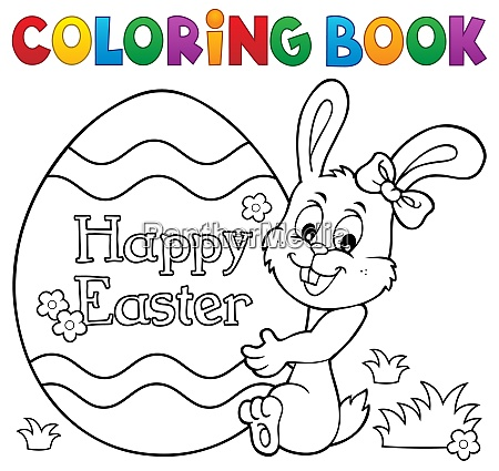 Coloring Book Easter Egg And Bunny 1 - Stock Photo - #28162321  PantherMedia Stock Agency