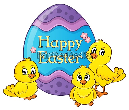 happy easter theme with egg and