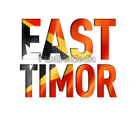 east timor flag text font
