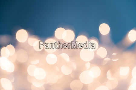 illuminated fairy lights in soft focus