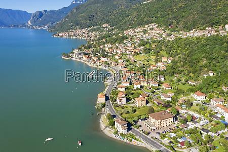 buildings on peninsula by lake como