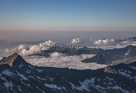 mountains in cloud in italian alps