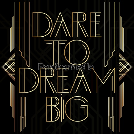 golden decorative dare to dream big