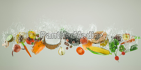 fresh fruit and vegetables fall into