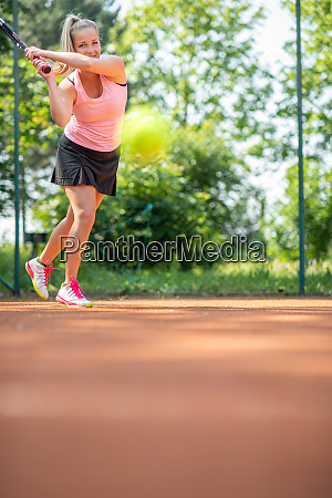 feeling confident on tennis courttop view