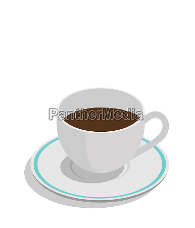 coffee saucer white shadow brown caffeine