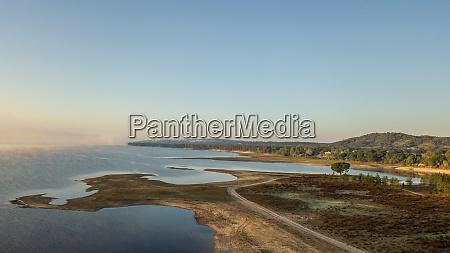 reservoir from montargil in the morning