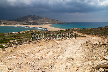 scenic view from peninsula prasonisi on