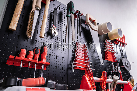 toolkit tools on wall